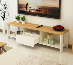 Wooden Tv Cabinet With Showcase Design In Living Room