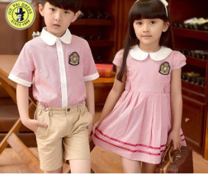01873b0032f7 Custom Boys and Girls School Uniforms Suit Summer Kindergarten School  Uniform Dress