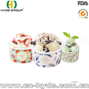 Disposable Double PE Paper Cup for Ice Cream with Printing pictures & photos