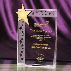 Hot Sales Crystal Glass Star Trophy Award for Business Gift pictures & photos