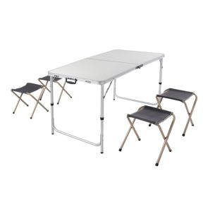 China Outdoor Furniture Camping Folding Aluminium Picnic Barbecue Folding Table Chair Set For Four People China Folding Table And Chair Set Camping Table Set