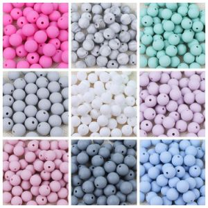 Silicone Beads BPA Free 9/12/15/19mm Teething Baby Teether Round Beads