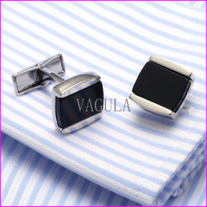New Style Fashion Onyx Men′s Cufflinks pictures & photos