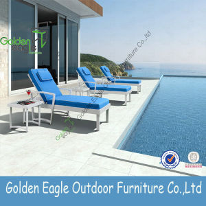 Aluminium Frame with Cushion for Swimming Pool Sunbed Lounger
