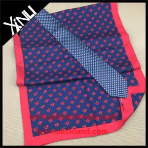 Custom Logo Printed Silk Scarf with Matching Silk Tie pictures & photos