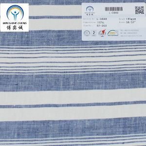 17*12 Stripe Pure Linen Fabric pictures & photos