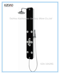 Kza-16429g Hot Selling Black Glass Shower Panel