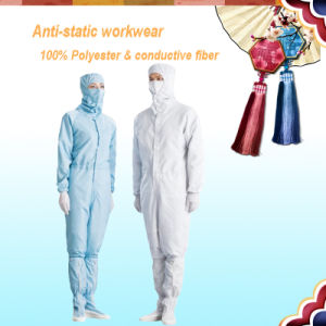 Working Clothes 5mm Grid Conductive Fiber ESD Coverall pictures & photos