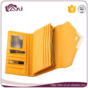 Fashion Design Girls Credit Card Wallet and Purse, PU Leather Wallet for Keeping Money Cards Coins pictures & photos