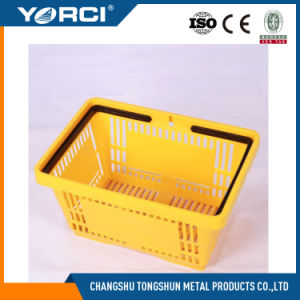 Supermaket Plastic Shopping Basket with Handle pictures & photos