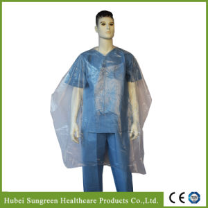 Disposable PE Waterproof Hairdressing Cape, Barber Apron pictures & photos
