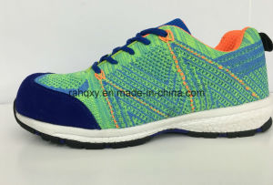 Professional Flyknit Upper Safety Shoes (HQ6120702) pictures & photos
