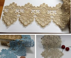 High-End Guipure Lace Stock Wholesale 13cm Width Embroidery Water Soluable Lace for Garments/Home Textiles/Curtains Factory Direct Sale pictures & photos