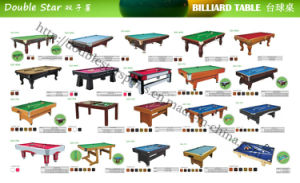Double Star Hot Sale Billiard Table Set Indoor Pool Table pictures & photos