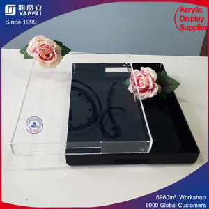 Yageli Factory Custom High Quality Acrylic Black Tray pictures & photos