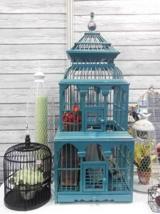 Wood & Bamboo Bird Cage
