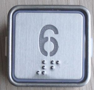 Elevator Part-Braille Button (CN404) pictures & photos