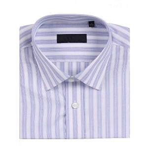100% Cotton, Purple Stripes, Men′s Business Shirts