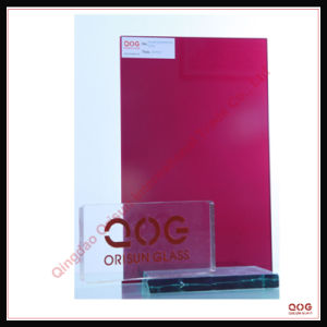 Purple Red Laminated Glass SGS, CE, 3c Safety Glass