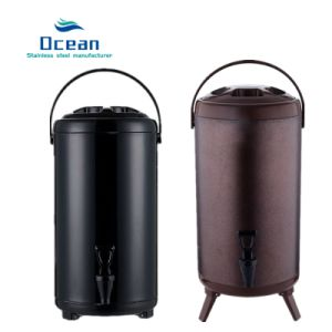 High Quality 10L Milk Tea Bucket Thermos Flask Vacuum Insulated Stainless  Steel Bottle with Tap