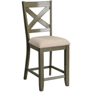 China Wooden 43 Hight Padded Fabric Counter Bar Stools With Back