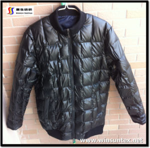 Popular Imitation Leather Downproof Fabric (HKTJ004-3DRT2)