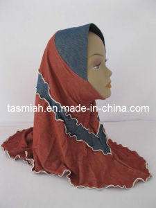 926 Denim Patchwork Shawl Tudung Scarf Muslim Hijab in Stock-144