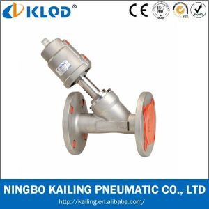 Two Way Angle Valve Kljzf Series Flange Pneumatic Valve pictures & photos