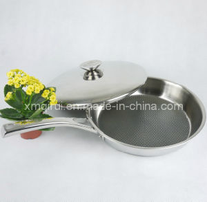 28 Cm Stainless Steel Non-Stick with Lid Saute Pan pictures & photos