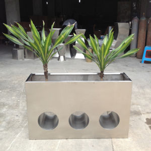 China Large Outdoor Mirror Finish Stainless Steel Flower Pot Planter