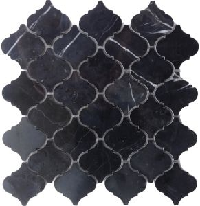 Nero Marquina Lantern Shaped Mosaic Tile pictures & photos