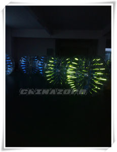 Gorgeous Green&Blue Colorful Glow Bubble Football From Guangzhou Manufacturer