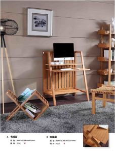 huge selection of cd5c5 5cbbc Carbonized Vertical Solid Bamboo Computer Desk
