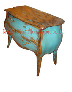 Antique Furniture / Blue Bedside Table (B-006)