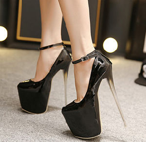 3bcd62a19b3f China Ladies Fashion Super High Heel Platform Inside Sex Women Shoes ...