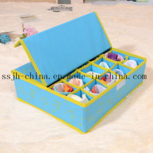 Blue Non Woven Storage Container with 20 Lattices (TN-UW 036)
