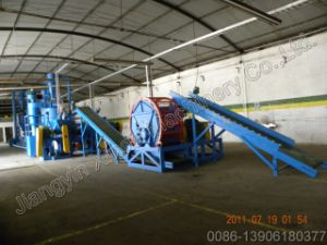 Environment Friendly Waste Tire Shredder Production Line pictures & photos