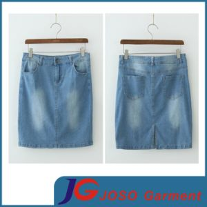 Supply Slit Short Jean Skirts (JC2056) pictures & photos