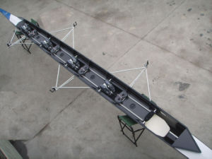 China Carbon Kevlar Rowing Boat 4+ Coxed Four with Cox Racing Shell