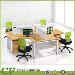 Metal Frame Wood Panel 4 Desk Office Desk Cubicle System CF-P10303