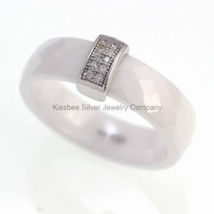 Ceramic Women Ring Jewelry Setting Zirconia Lead and Nickle Free (R20002) pictures & photos