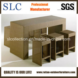 Wicker Bar Table Set/Outdoor Bar Furniture/Bar Furniture (SC 8040)