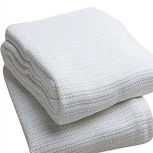 100% Cotton Weave Thermal Cellular Hospital White Blankets