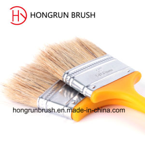 Plastic Handle Pure White Bristle Paint Brush (HYP005) pictures & photos