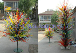 Hot Sales Modern Large Outdoor Garden Hotel Interior Hall Lobby Decorative Hand Blown Chihuly Style Color Glass Combination Sculpture.