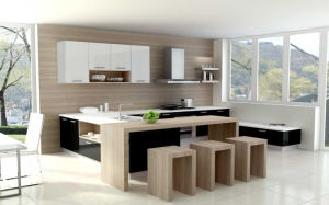 Melamine Laminated Particle Board Kitchen Cabinet (zg-008)