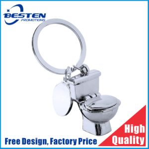 Custom Full 3D Relief Zinc Alloy Interesting Toilet Shape Metal Keychain