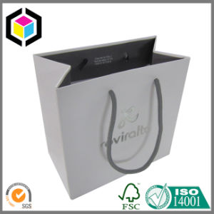 Folded Silver Foil Logo Jewelry Gift Paper Packing Bag