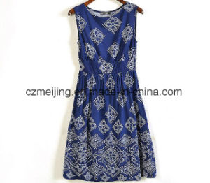 Two Color Women`S Silp Dress