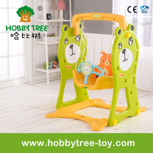 2017 Bear Style Cheap Home Plastic Baby Swing with Ce (HBS17022B)